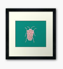 arthropod teal green Framed Print