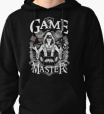 Female Game Master - White Pullover Hoodie