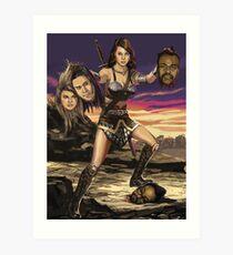 April Ludgate vs Black Eyed Peas Art Print