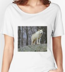 Arctic Wolf Watching Women's Relaxed Fit T-Shirt