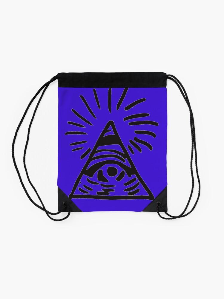 Vista alternativa de Mochila saco Letrero de Illuminati - Antes de la tormenta - La vida es extraña