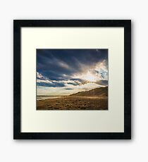 Ocean Grove Beach Sunset Framed Print