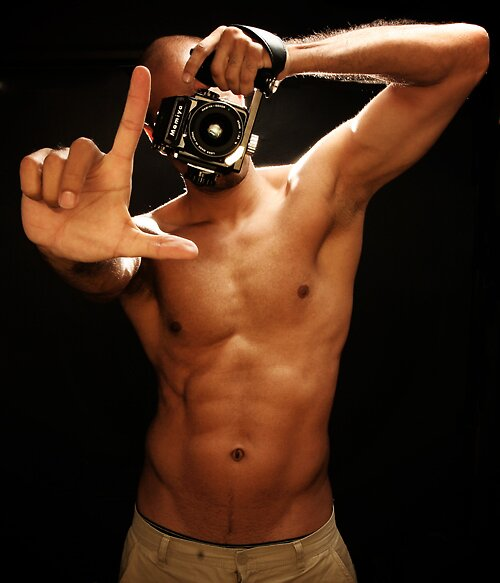 This is how you take a self portrait at 2AM. by KamPhotography