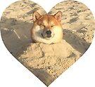 Doggo Stickers: Sand Shibe by Elisecv