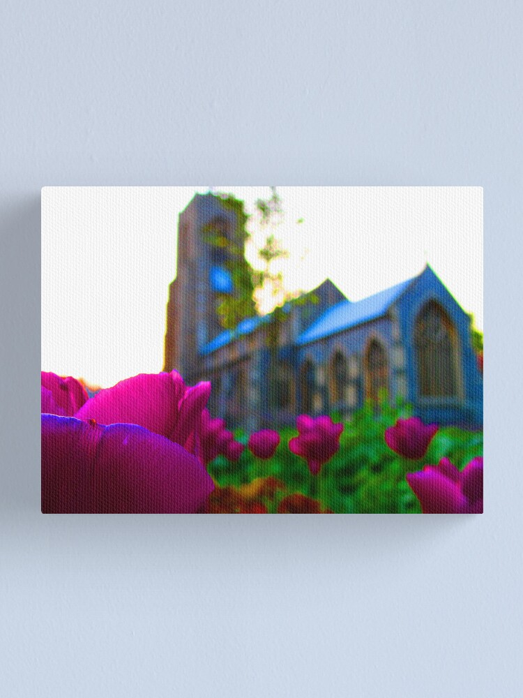 Alternate view of Flowers Outside St Giles II Canvas Print