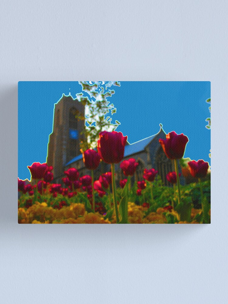 Alternate view of Flowers Outside St Giles Canvas Print