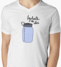 Camiseta para hombre de cuello en v Hidratar o morir