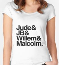 Jude&JB&Willem&Malcolm Women's Fitted Scoop T-Shirt
