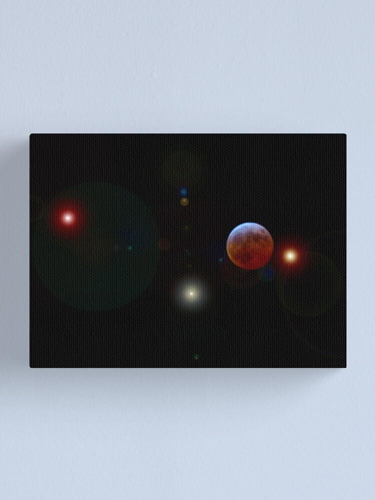 Alternate view of Lunar Eclipse Canvas Print