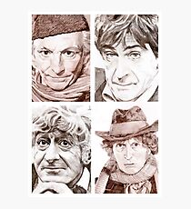 Hartnell/Troughton/Pertwee/Baker Photographic Print