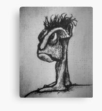 Strange Creature Character Drawing Canvas Print