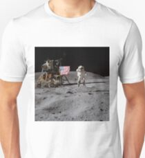 Astronaut saluting the American flag during Apollo 16  by NASA Unisex T-Shirt