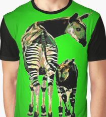 Okapi and Child Graphic T-Shirt