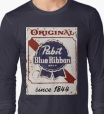 Pabst Blue Ribbon Beer PBR Distressed Logo T-Shirt