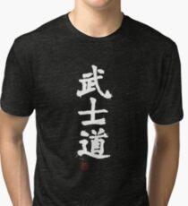 Kanji - Bushido in white Tri-blend T-Shirt