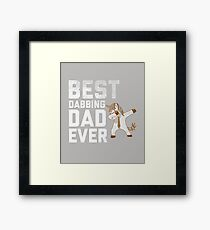 Best Dabbing Dad Ever Tee Dab Unicorn Hip Hop Gift T-Shirt For Men, Women, and Kids Framed Print
