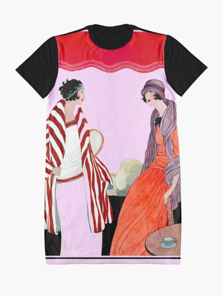 Alternative Ansicht von Vogue Vintage 1922 Magazin Werbung Print T-Shirt Kleid