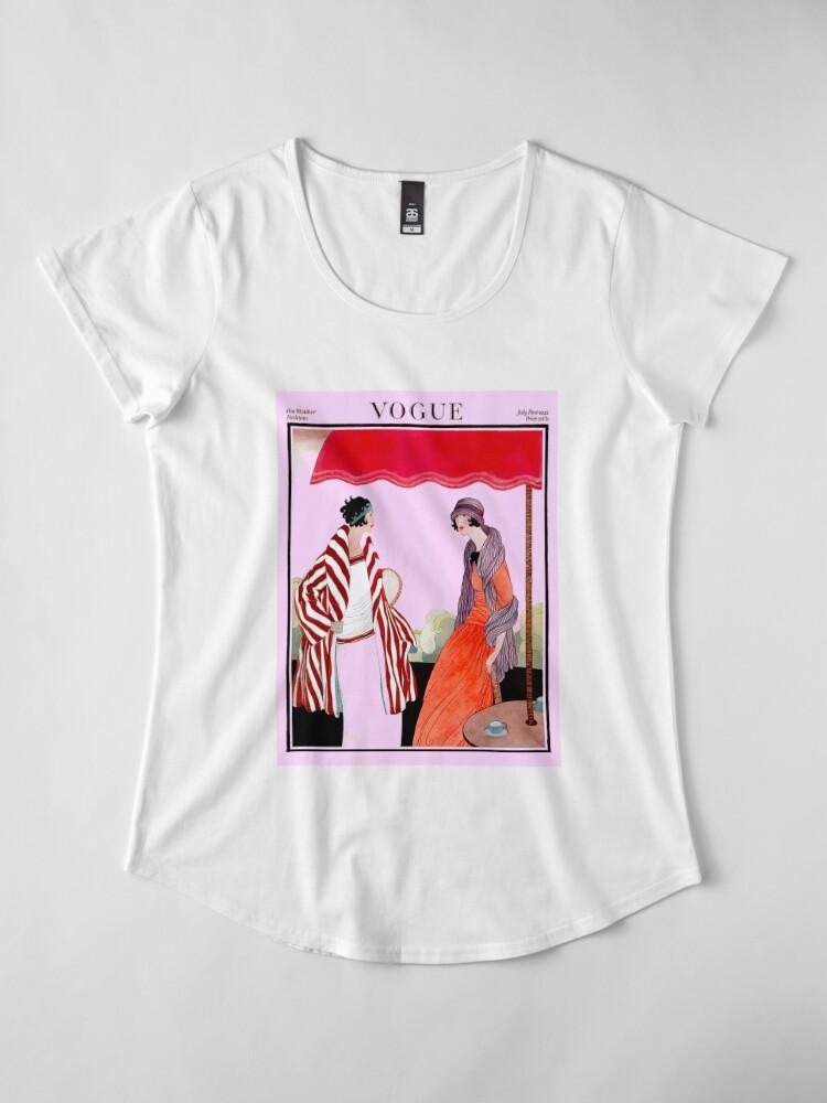 Alternative Ansicht von Vogue Vintage 1922 Magazin Werbung Print Frauen Premium T-Shirt