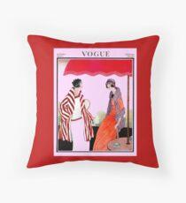 Vogue Vintage 1922 Magazine Advertising Print Throw Pillow