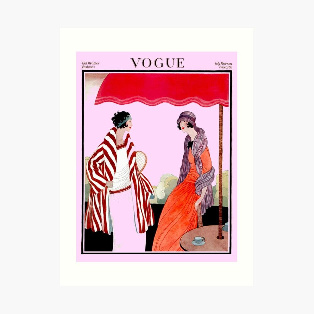 Vogue Vintage 1922 Magazin Werbung Print Kunstdruck