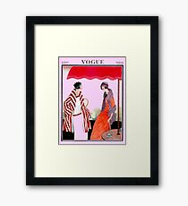Vogue Vintage 1922 Magazine Advertising Print Framed Print