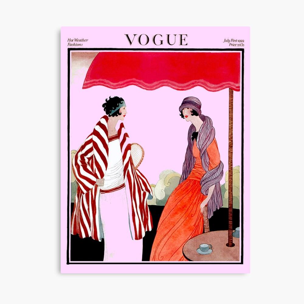 Vogue Vintage 1922 Magazin Werbung Print Leinwanddruck