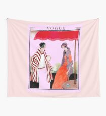 Vogue Vintage 1922 Magazine Advertising Print Wall Tapestry