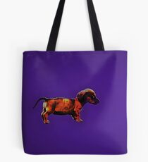 Dachshund in Blue Tote Bag