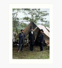 Battle of Antietam, Md. Allan Pinkerton, President Lincoln, and Maj. Gen. John A. McClernand; 1862. Art Print