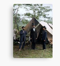 Battle of Antietam, Md. Allan Pinkerton, President Lincoln, and Maj. Gen. John A. McClernand; 1862. Canvas Print