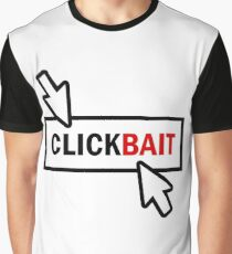 """""""CLICKBAIT"""" - With Border and Two Cursors Graphic T-Shirt"""