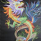Bright and Vivid Chinese Fire Dragon by taiche