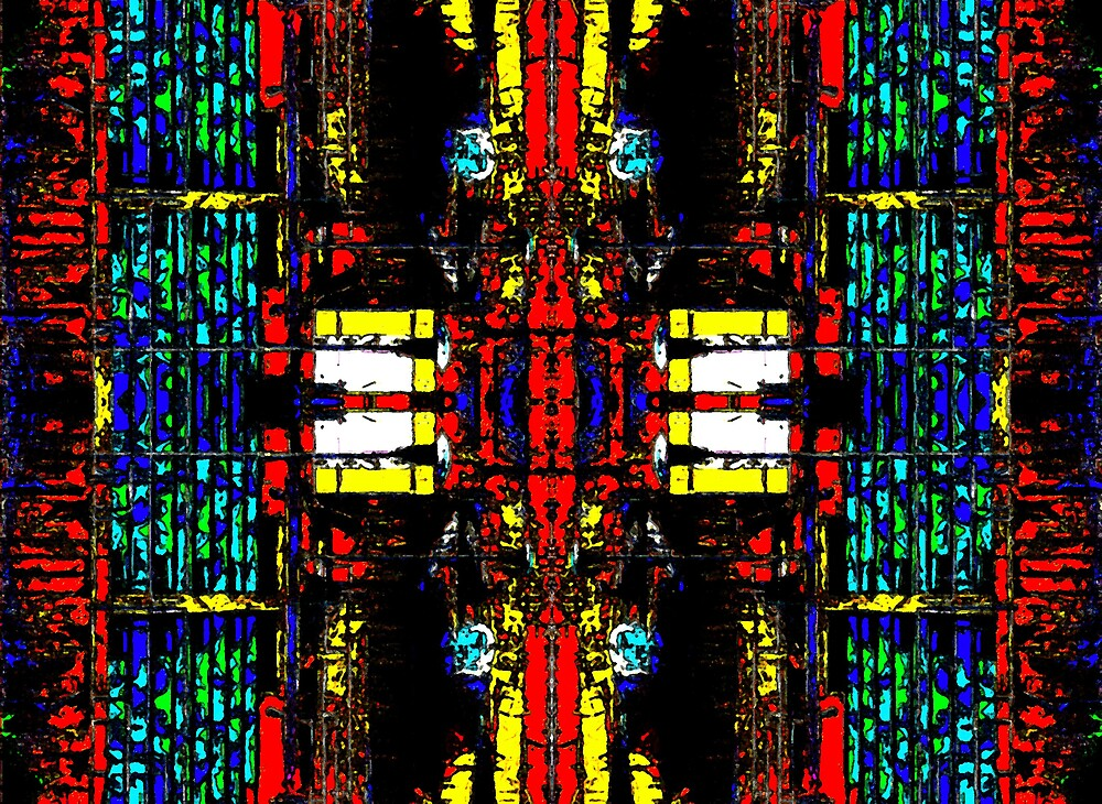 Stained Glass Abstract by Harlan Mayor
