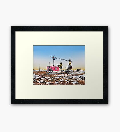 Grassy, Lightning Ridge Rural Fire Brigade Framed Print
