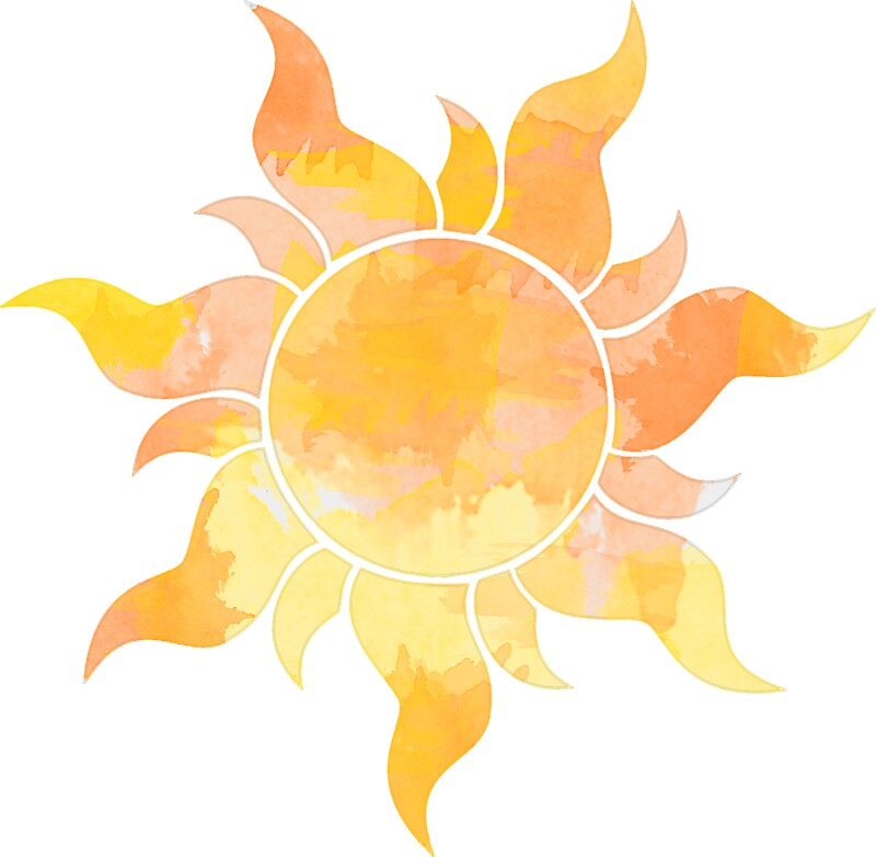 u0026quot orange and yellow sun watercolor u0026quot  stickers by