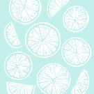 Citrus Wheels - Blue and White by SamNagel