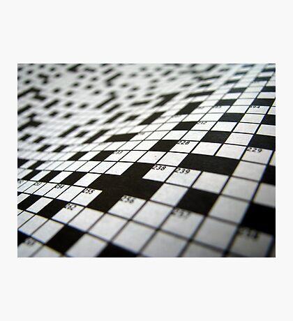 Crossword Photographic Print