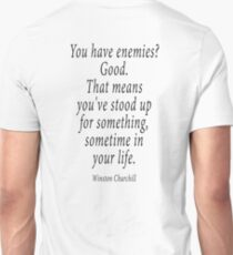 ENEMIES, Sir Winston Churchill T-Shirt