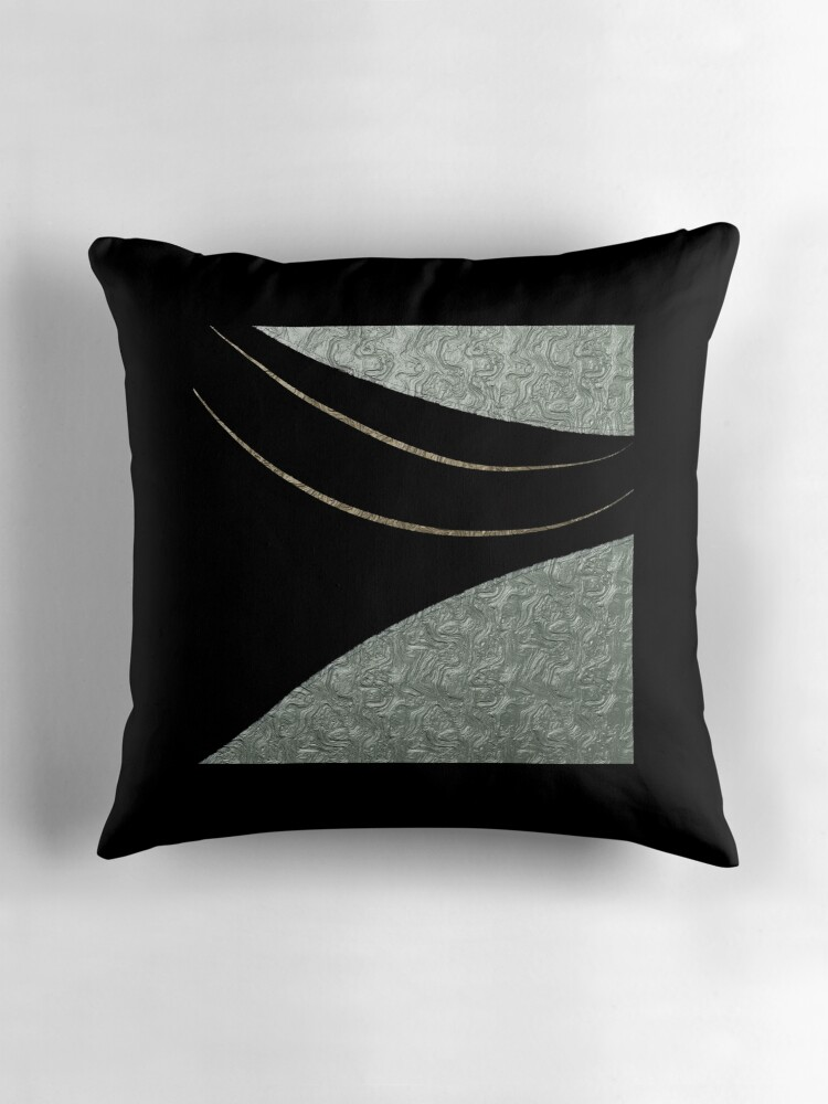 Black And Silver Decorative Pillows :