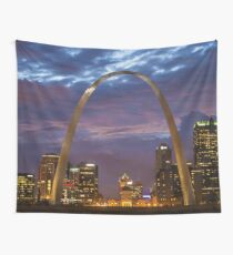St. Louis Arch At Night Wall Tapestry