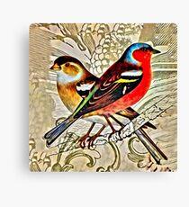 BRIGHT BIRDIES COLLAGE Canvas Print