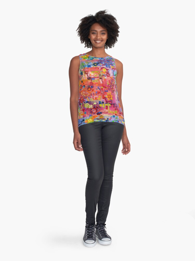 Alternate view of Transition to Chaos Sleeveless Top