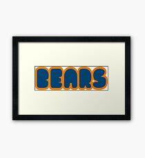 Da Bears Font Framed Print