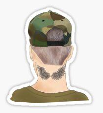 Justin Purple Hair Sticker