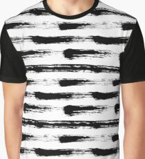 Grunge painted striped pattern Graphic T-Shirt