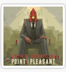 Brock Berrigan ‎– Point Pleasant - Vinyl LP artwork - Triphop jazzy hiphop from the Netherlands Sticker