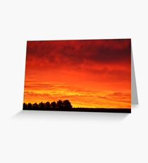 Barrabool Hills Rural Sunset Greeting Card