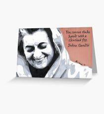 Indira Gandhi Greeting Card