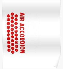 Air Cool Accordion Design. Retro Music Classical Instrument Distressed Graphic Poster