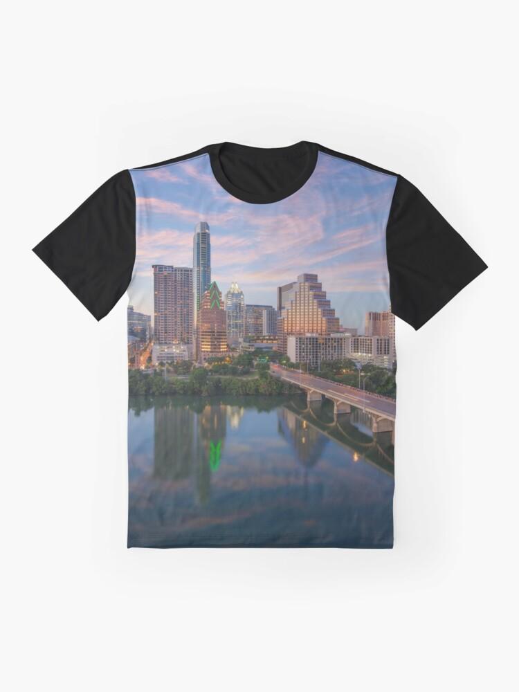 Alternate view of Austin Texas Evening Skyline 73 Graphic T-Shirt